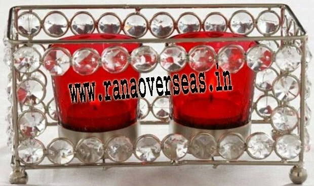 Diamond Glass Votive T-Light Holder