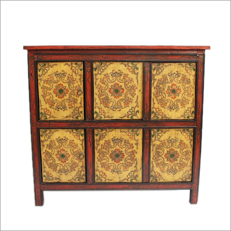Mongolian Painted Cabinet