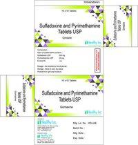 Sulfadoxine & Pyrimethamine Tab IP) +Artesunate Ta