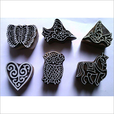 wooden printing handmade blocks mix set of 6 blocks for fabric printing