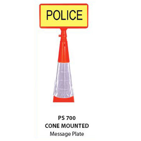 Cone Mounted Message Plate