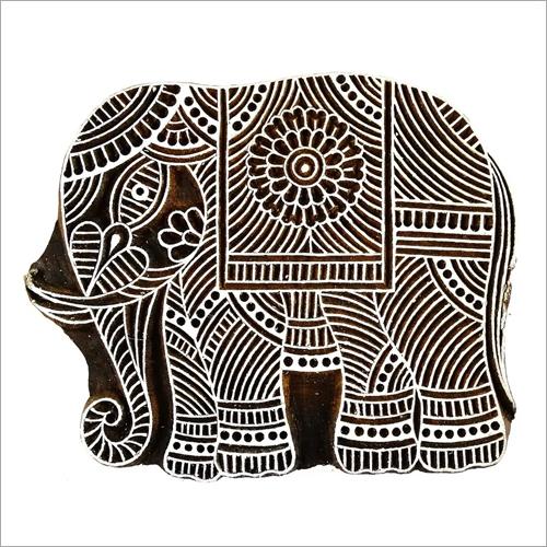 Elephant Print Block