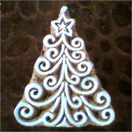 Printing Blocks Christmas Tree Design (10 Pcs Pack)
