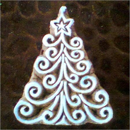 printing blocks Christmas Tree design (10 pcs pack)