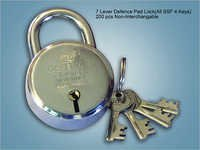 7 Lever Defence Pad Lock