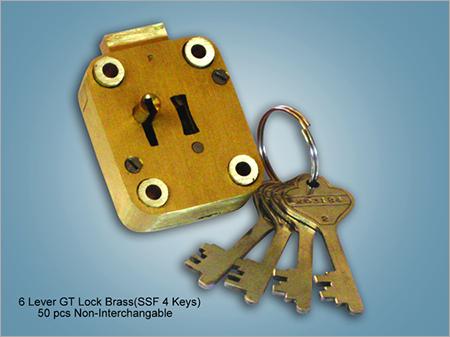6 Lever GT Lock Brass