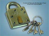 6 Lever GI Pad Lock