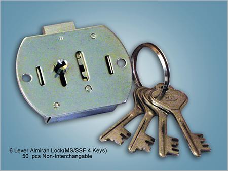 6 Lever Almirah Lock MS SSF 4 Keys