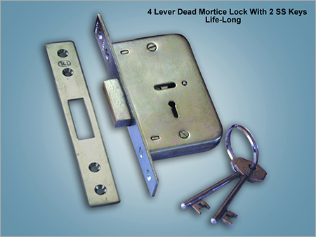4 Lever Dead Mortice Lock With 2 SS Keys Life Long