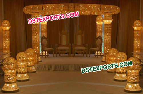 Golden Jewel Crystal Mandap Set