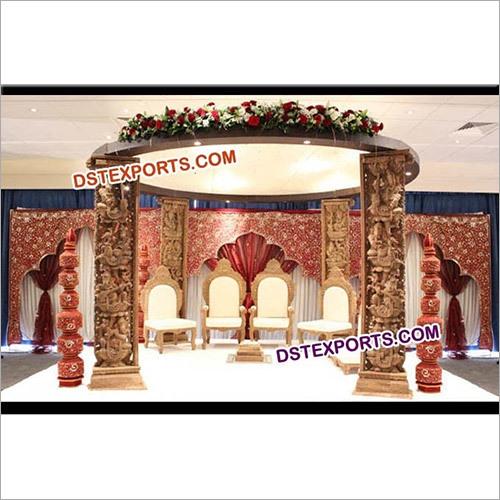 Hindu Wedding Traditional Mandap Set