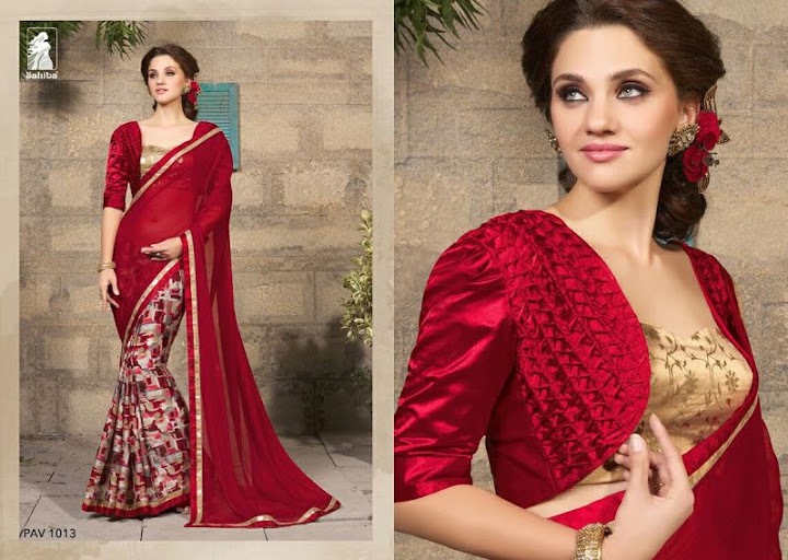 PAVITHRA 10--TRENDY GEORGETTE SAREES