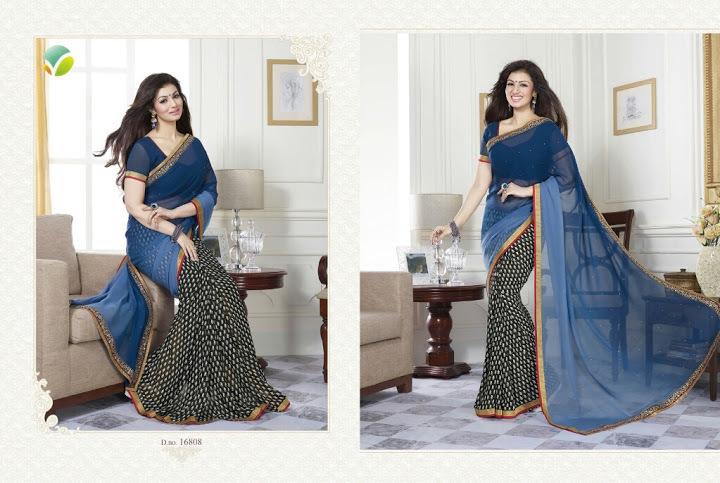 Goergette printed sarees