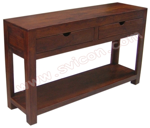 CONSOLE 2 DRAWERS WITH SHELF