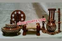 Traditional Wooden Handicraft Charkha Set