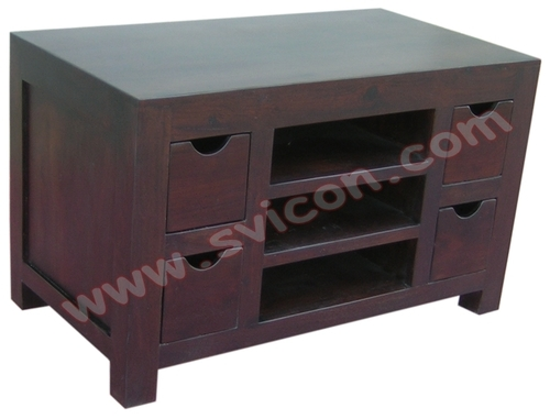 TV/DVD/VCD UNIT 4 DRAWER WITH 2 SHELF