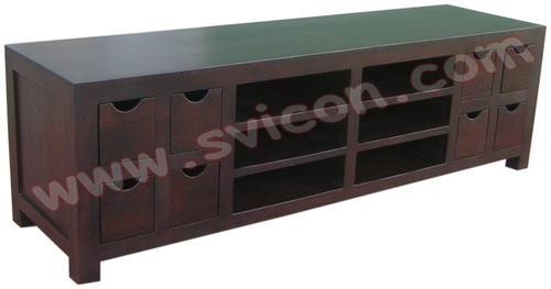 TV/DVD/VCD UNIT 8 DRAWERS WITH 4 SHELF