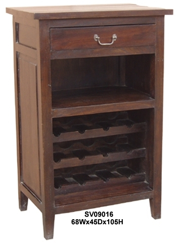 Bar Bottle Rack One Drawer-SV09016