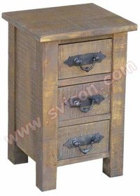 Wooden Bedside 3 Drawer