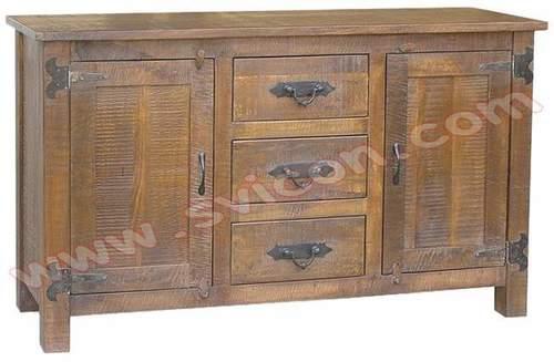 Wooden Sideboard 3 Drawer 2 Door