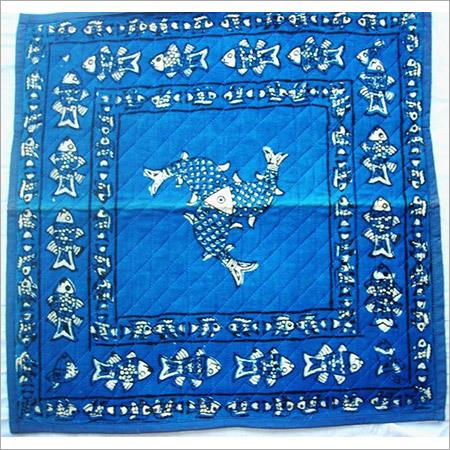 FISH BLUE INDIGO DABU CUSHION COVER SET OF 5 PCS