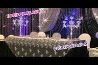 Wedding Table Crystal Candlabra Stands