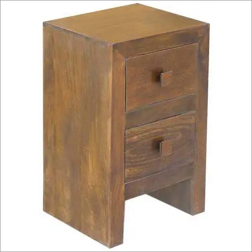 Wooden Two Drawer Cabinet