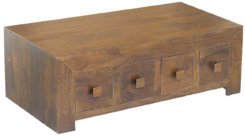 WOODEN 8 DRAWER COFFEE TABLE