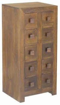 Wooden Cd/dvd 10 Drawer Chest