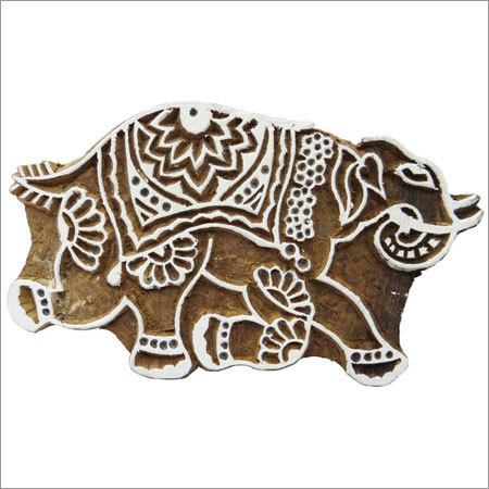 Elephant Fabric Print Block