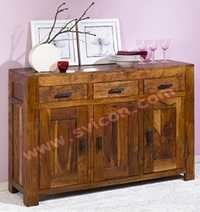 WOODEN SIDE BOARD 3 DRAWER 3 DOOR