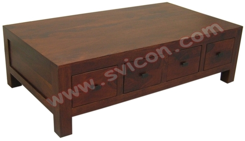WOODEN COFFEE TABLE 8 DRAWER