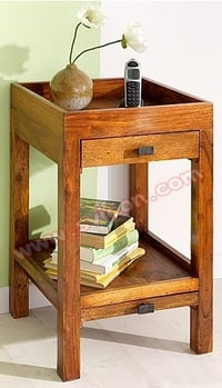 WOODEN TELEPHONE TABLE WITH DRAWER