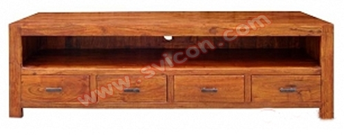 WOODEN TV/DVD/VCD UNIT 4 DRAWER