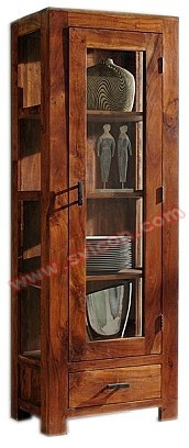 WOODEN KITCHEN CABINET 1 GLASS DOOR