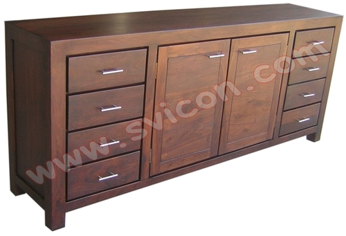WOODEN SIDE BOARD 8 DRAWER 2 DOOR