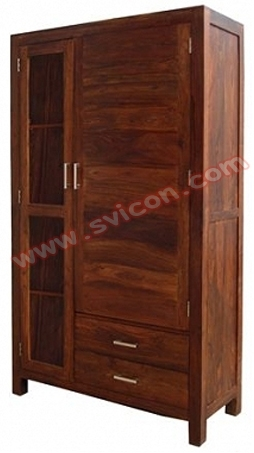 WOODEN CABINET 2 DRAWER 2 DOOR