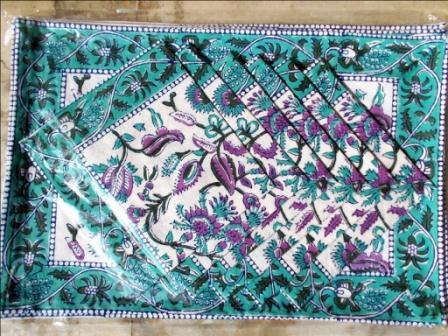 Green Terquize Floral PlaceMat DinningSet
