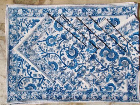 Blue SunFlower Place Mat Dinning Set