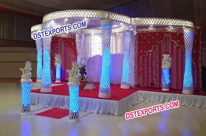 New style Wedding Crystal Mandap