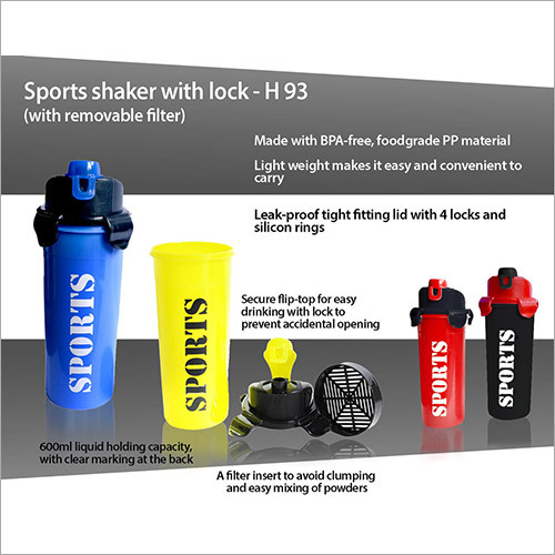 Sports Shaker with Lock (with removable filter)