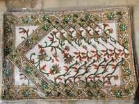 Brown Floral Dinning PlaceMat Set