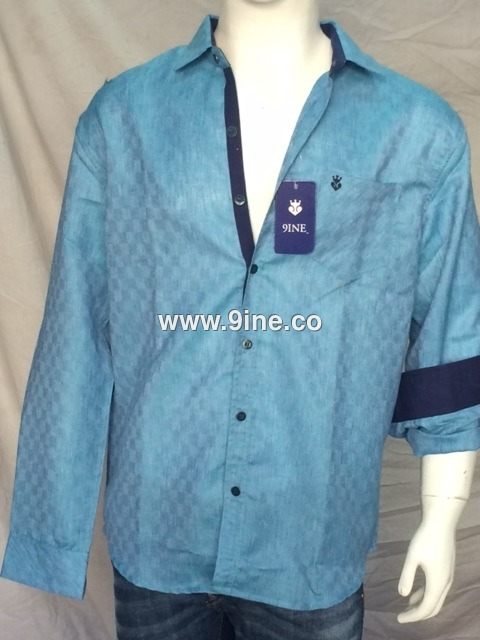 9INE BRAND CHECK SHIRT- 70/2