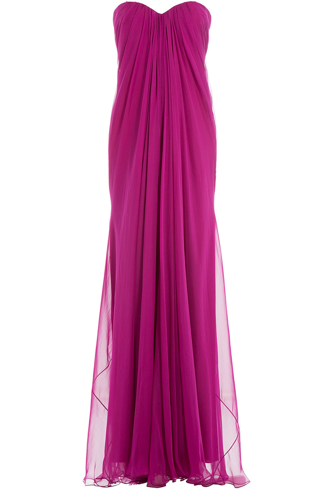 Silk Chiffon Floor Length Gowns