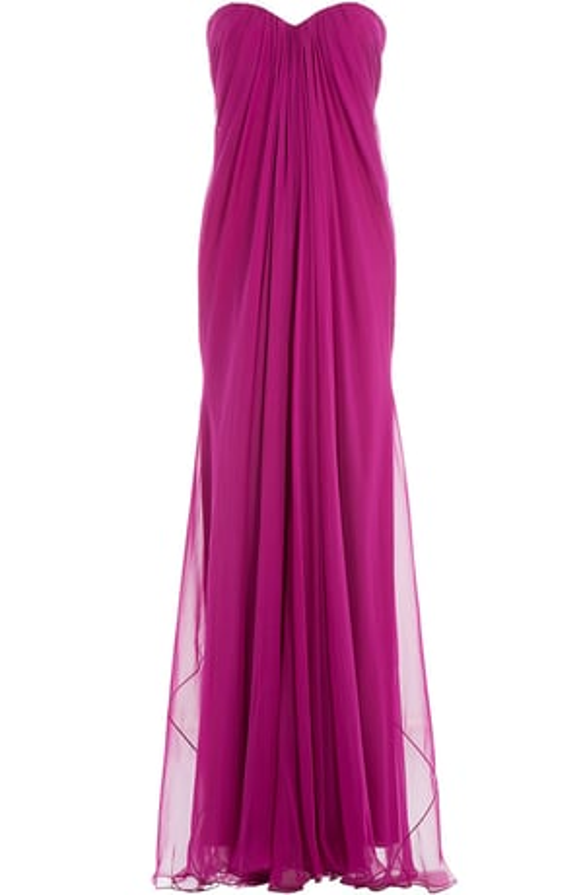 Silk Chiffon Floor Length Gowns