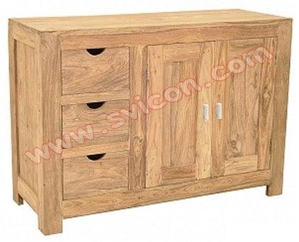 WOODEN SIDE BOARD 3 DRAWER 2 DOOR