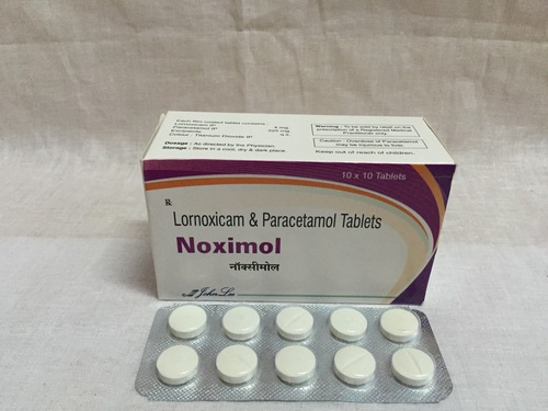 Lornoxicam 4 Mg and Paracetamol 325 Mg Tablets