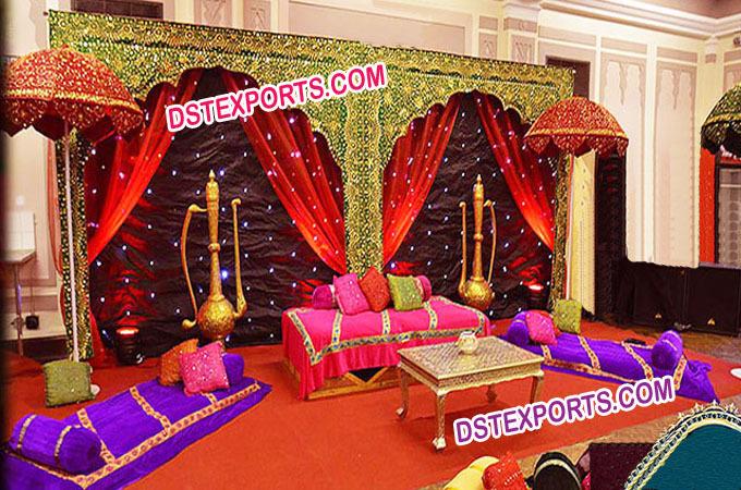Wedding Mehandi Stage Decoration