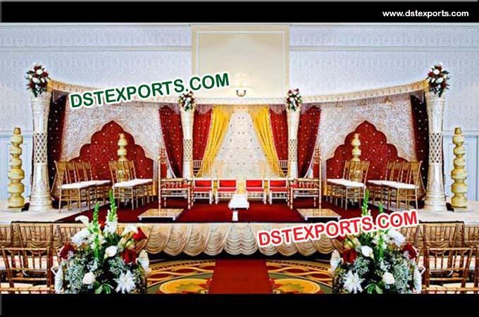 Indian Wedding Damroo Pillar Stage Set