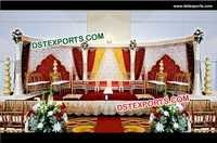 Indian Wedding Damroo Pillar Stage Set